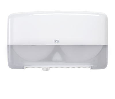 Tork Bath Tissue Jumbo Roll Mini Twin Dispenser - White